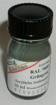 RAL 7009 Grüngrau, seidenmatt
