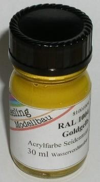RAL 1004 Goldgelb, seidenmatt