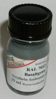 RAL 7012 Basaltgrau, seidenmatt