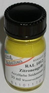 RAL 1012 Zitronengelb, seidenmatt