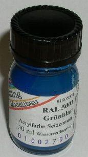 RAL 5001 Grünblau, seidenmatt