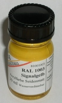 RAL 1003 Signalgelb, seidenmatt