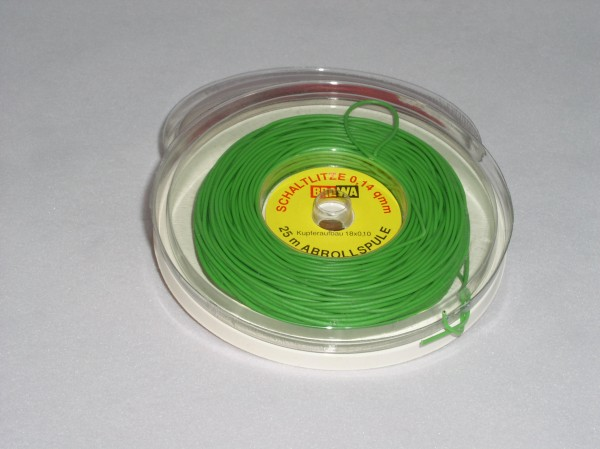Schaltlitze, grün, 25m