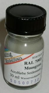 RAL 7003 Moosgrau, seidenmatt