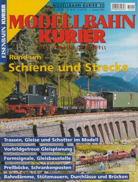 Modellbahn Kurier 20 - Rund um Schiene und Strecke