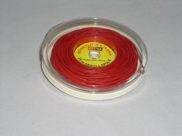 Schaltlitze, rot, 25m