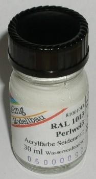 RAL 1013 Perlweiß, seidenmatt