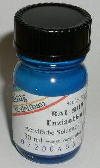 RAL 5010 Enzianblau, seidenmatt