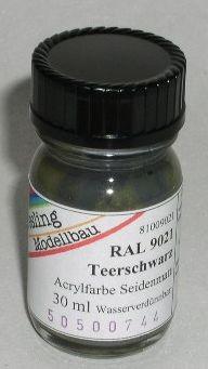 RAL 9021 Teerschwarz, seidenmatt