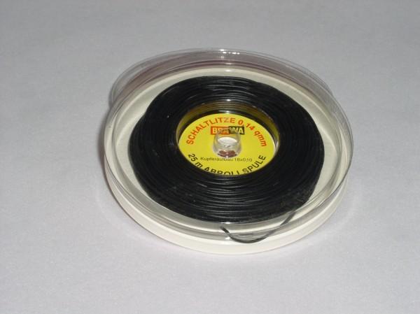 Schaltlitze, schwarz, 25m