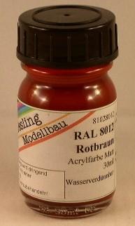 RAL 8012 Rotbraun, matt
