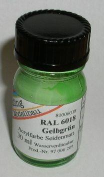 RAL 6018 Gelbgrün, seidenmatt