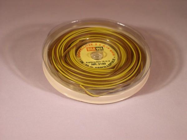 Bandkabel, braun/gelb, 10m